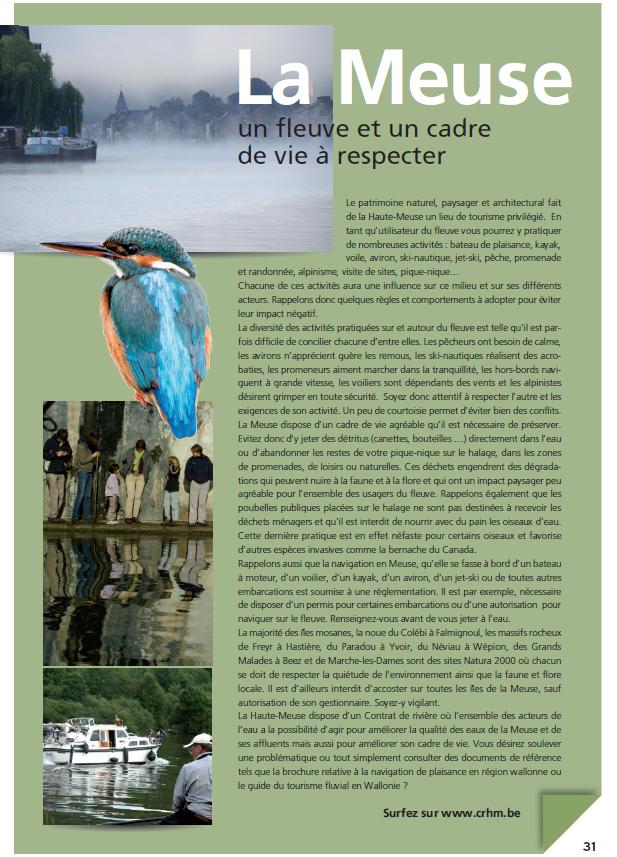 La Haute-Meuse : Un fleuve et un cadre de vie à respecter