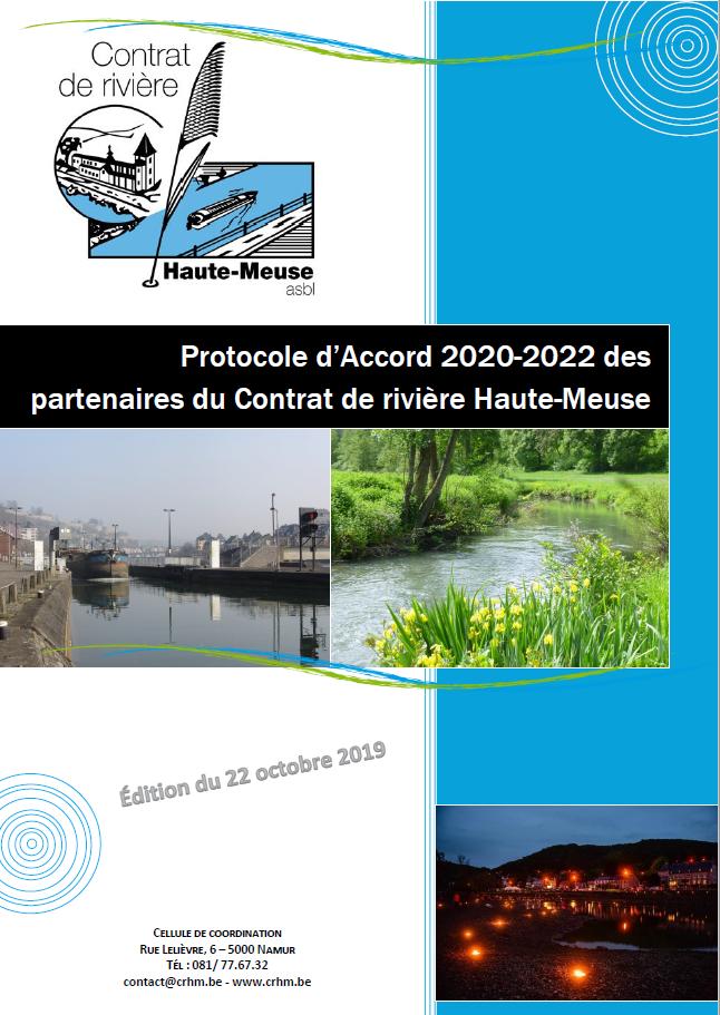 Protocole d'Accord des partenaires du Contrat de rivière Haute-Meuse - 2020/2022