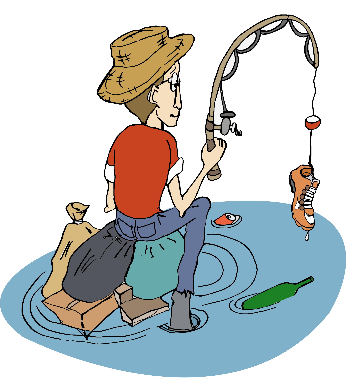 Stop aux déchets ménagers dans la rivière !